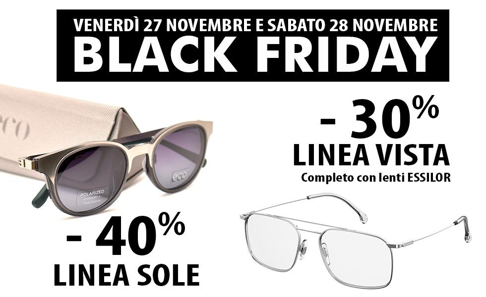 Black Friday da Ottica Iacino con sconti linea sole e occhiali da vista