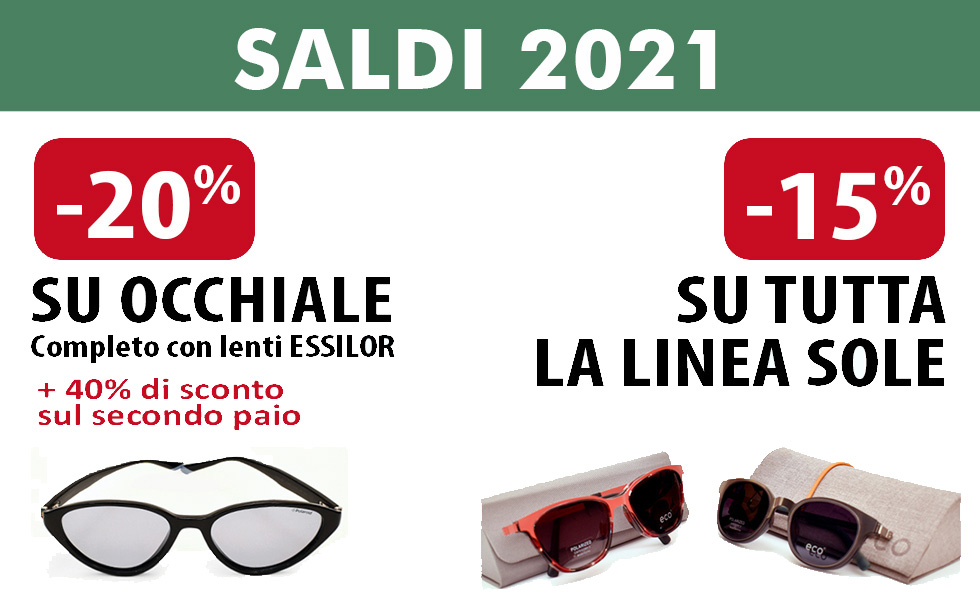 Da Ottica Iacino a Roma Saldi su occhiali da vista e da sole